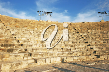 Royalty Free Photo of an Ancient Amphitheater in Kourion, Cyprus