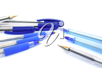 Royalty Free Photo of Blue Pens