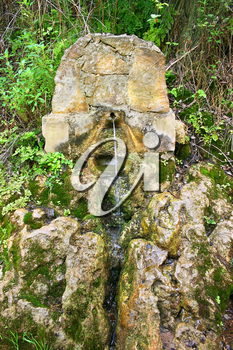 Royalty Free Photo of a Spring Near the Baths of Aphrodite, Cyprus