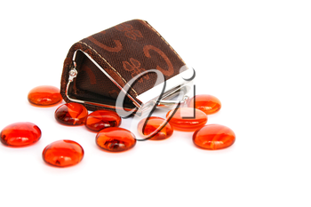 Royalty Free Photo of Stones and a Wallet