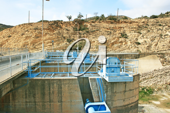 Royalty Free Photo of a Dam in Cyprus
