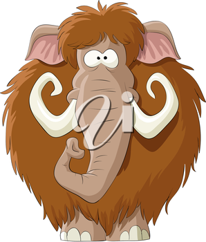 Royalty Free Clipart Image of a Mammoth