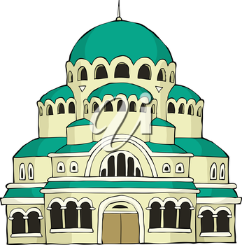 Royalty Free Clipart Image of The Byzantine Church