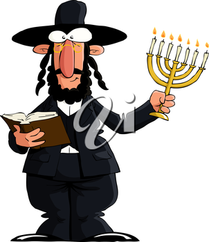 Royalty Free Clipart Image of a Jewish Male