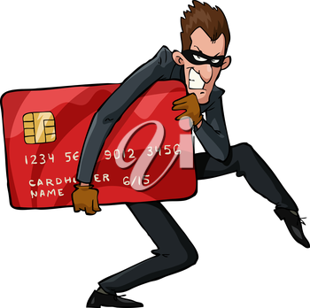 Royalty Free Clipart Image of a Thief