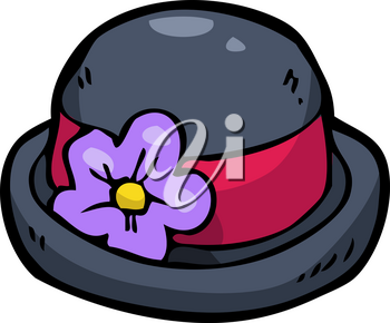 Doodle bowler hat on a white background vector illustration