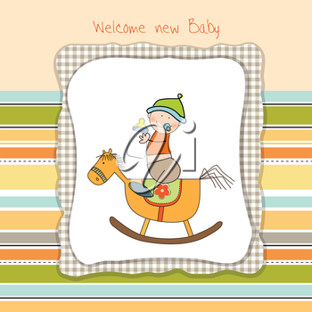 Royalty Free Clipart Image of a Welcome Baby Background