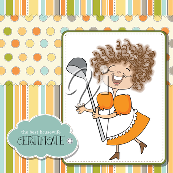 the best wifehouse certificate, vector illustration