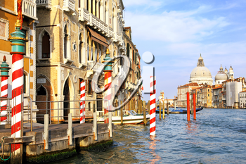 Beautiful water street - Grand Canal in Venice, Italy
