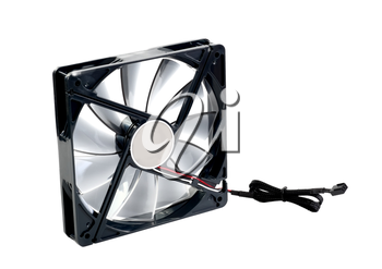 Computer cooler. Isolated over white