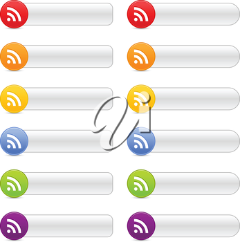 Royalty Free Clipart Image of a Set of Wireless Internet Icons