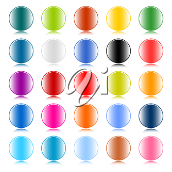 Royalty Free Clipart Image of Colourful Circles