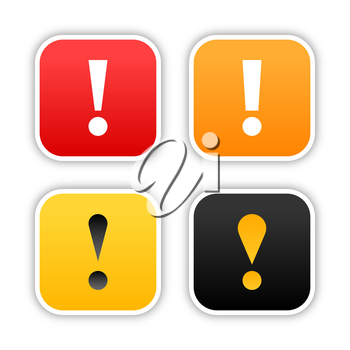 Royalty Free Clipart Image of Exclamation Mark Signs