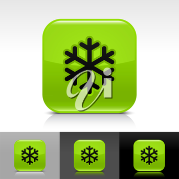 Royalty Free Clipart Image of a Set of Snowflake Icons