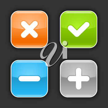 Royalty Free Clipart Image of Mathematical Icons