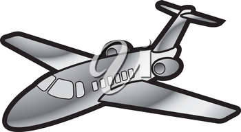 Royalty Free Clipart Image of an Aeroplane