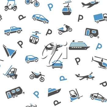 Seamless backdrop transport icons - wrapping paper, 10eps