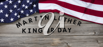 Martin Luther King Day background for freedom in United States concept