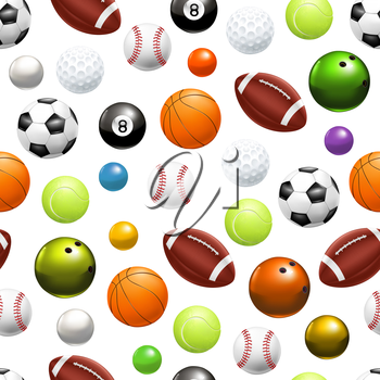 Balls, seamless pattern 10eps