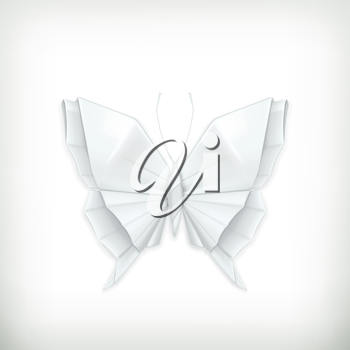 Origami butterfly, vector