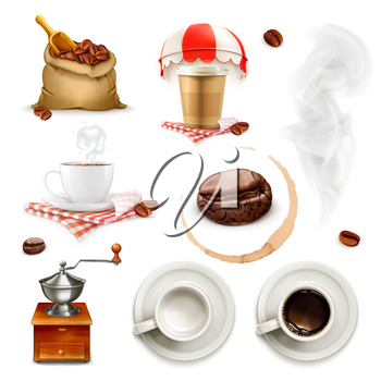 Coffee, icon set and elements
