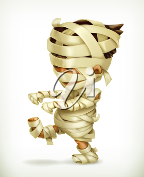 Little funny mummy, vector icon