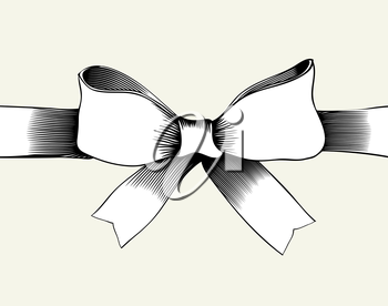 Bow with ribbon.