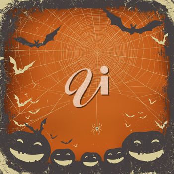 Halloween themed background with space for text