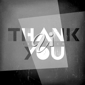 Thank you card. Film noir styled.