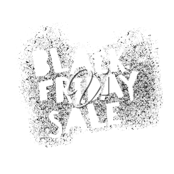 Black Friday Graffiti isolated Typography