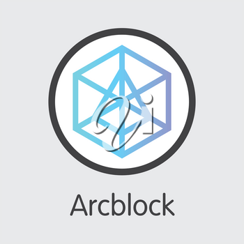 ABT - Arcblock. The Trade Logo or Emblem of Crypto Currency, Market Emblem, ICOs Coins and Tokens Icon.