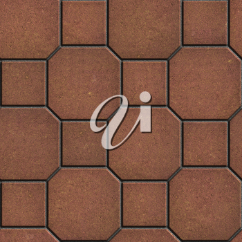 Brown Tiles - Octagons with Squares. Seamless Tileable Texture.