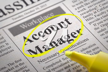 Royalty Free Clipart Image of an Account Manager Job Posting