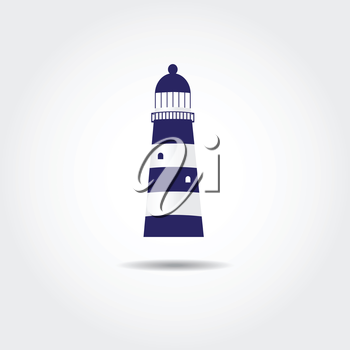 Royalty Free Clipart Image of a Lighthouse Background