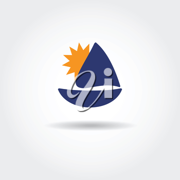 Royalty Free Clipart Image of a Boat Icon
