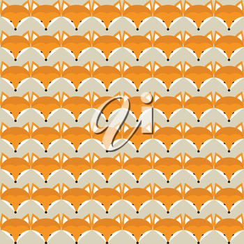 Animal print. Seamless pattern with cute fox faces. Good idea for textile, wrapping, wallpaper or cloth design.