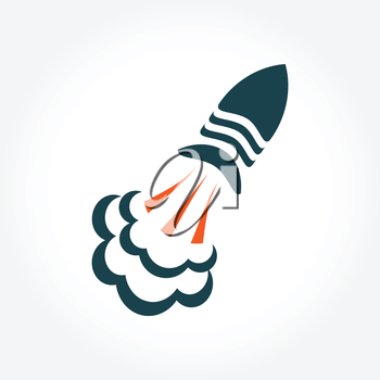 Vector rocket logo symbol. Rocket logotype icon for your buisiness.