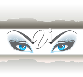 Vector illustration of Set of eyes