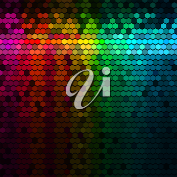 Multicolor Rainbow Abstract Lights Disco Digital Background
