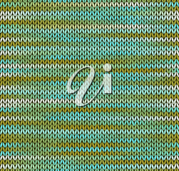 Style Seamless Knitted Pattern. Blue Green White Color Illustration from my large Collection of Samples of knitted Fabrics