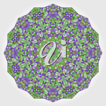 Abstract Flower. Creative Colorful style vector wheel. Lilac Violet Green White Dominant Color