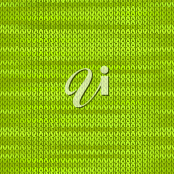 Style Seamless Knitted Melange Pattern. Green Yellow Color Vector Illustration