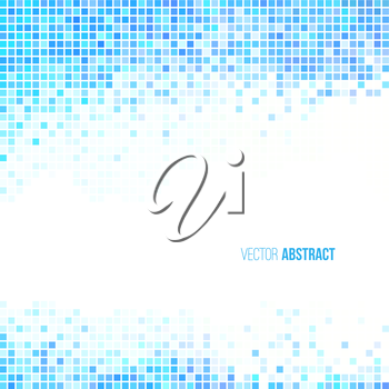 Abstract light blue and white geometric background