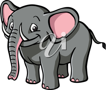 Royalty Free Clipart Image of an Elephant