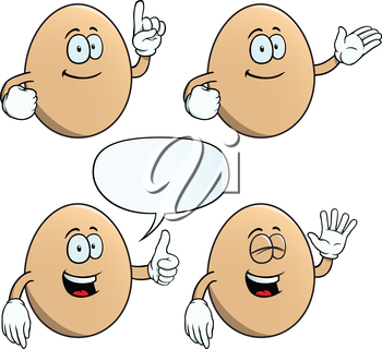 Royalty Free Clipart Image of Happy Eggs