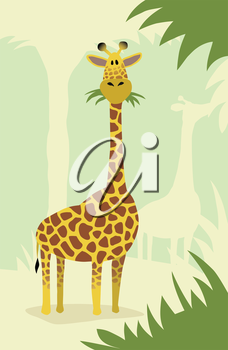 Royalty Free Clipart Image of a Giraffe