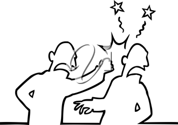 Royalty Free Clipart Image of a Fight
