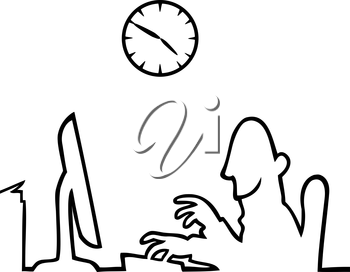 Royalty Free Clipart Image of a Person Working