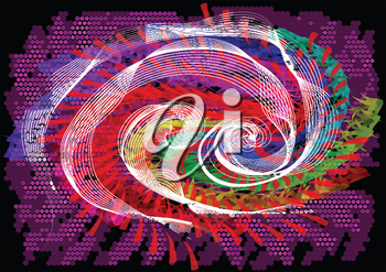 spiral. abstract multicolor background with spiral motion
