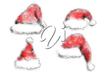 Santa Claus abstract hat isolated on a white background
